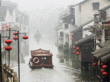 Traditional Old Riverside Houses in Shantang Water Town  Suzhou  Jiangsu Province  China