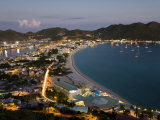 Great Bay and the Dutch Capital of Philipsburg  St Maarten  Netherlands Antilles  West Indies