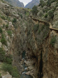 El Chorro Gorge and the Old Catwalk  Malaga Province  Andalucia  Spain  Europe