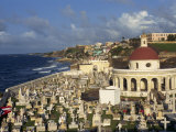 Cemetery on the Coast in the City of San Juan  Puerto Rico  USA  West Indies