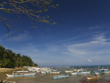 Colourful Fishing Boats on Beach  Sabang Town  Palawan  Philippines  Southeast Asia