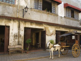 Horse and Cart in Spanish Old Town  Vigan  Ilocos Province  Luzon  Philippines  Southeast Asia