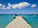 Wooden Pier on the Beach at Grand-Case on the French Side  St Martin  Leeward Islands  West Indies