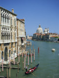 Gondolas on the Grand Canal with Santa Maria Della Salute in the Background  Venice  Veneto  Italy