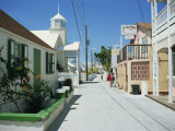 Quiet Street Scene  New Plymouth  Green Turtle Cay  Bahamas  West Indies  Central America