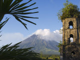 Church Belfry Ruins and Volcanic Cone  Bicol Province  Luzon Island  Philippines