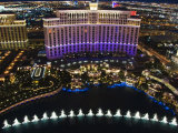 Aerial View of Belagio Hotel Casino on the Strip  Las Vegas  Nevada  USA