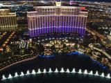 Aerial View of Belagio Hotel Casino on the Strip  Las Vegas  Nevada  USA