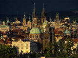 Stare Mesto District Including Tyn Church  Charles Bridge and Town Hall  Prague  Czech Republic