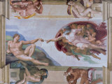 Michelangelo  the Creation of Adam in the Sistine Chapel  Vatican  Rome  Lazio  Italy  Europe
