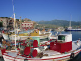 Fishing Boats Moored in Harbour at Molyvos  Lesbos  North Aegean Islands  Greek Islands  Greece