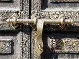 Ancient Door in the Souks  Marrakesh  Morocco  North Africa  Africa