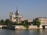 River Seine and Notre Dame Cathedral  Paris  France  Europe