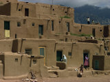 Adobe Buildings of Taos Pueblo  Dating from 1450  UNESCO World Heritage Site  New Mexico  USA