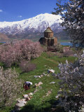 Armenian Church of the Holy Cross  on Akdamar Island  Beside Lake Van  Anatolia  Turkey