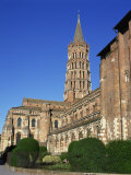 Church of St Sernin in the Town of Toulouse  in the Midi Pyrenees  France  Europe