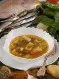 Caldo De Pescado Soup  Food of the Canary Islands  Spain  Europe