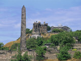 Calton Hill Monuments  Calton Hill  Edinburgh  Lothian  Scotland  United Kingdom  Europe