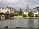 Town of Bernkastel Along the Rhine  Rhineland-Palatinate  Germany  Europe