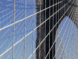 Detail of the Brooklyn Bridge  New York City  United States of America  North America