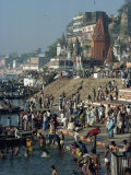 Ghats on the River Ganges  Varanasi  Uttar Pradesh State  India