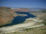 Reservoir on Green River  in the Flaming Gorge National Recreation Area  Utah Wyoming Border  USA