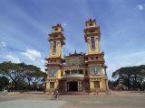 Exterior of the Cao Dai Temple  Near Saigon  Vietnam  Indochina  Southeast Asia