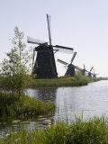 Kinderdijk Windmills  UNESCO World Heritage Site  Holland  Europe