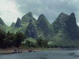 River Li Between Gweilin and Yangshuo in Guangxi Province  China