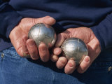 Playing Petanque  Roussillon  France  Europe