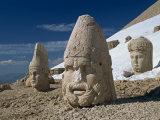 Statue Heads of Zeus  Antiochos and Tyche  West Terrace at Nemrut Dag  Anatolia  Turkey Minor