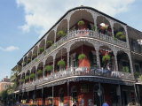 Exterior of a Building with Balconies  French Quarter Architecture  New Orleans  Louisiana  USA