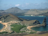 Coastline at Bartolome in the Galapagos Islands  Ecuador  South America