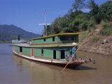 Following the Mekong River by Boat to Luang Prabang  Mekong  Laos  Indochina  Southeast Asia