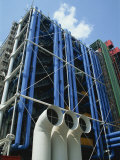 Exterior Detail of the Pompidou Centre  Beaubourg  Paris  France  Europe