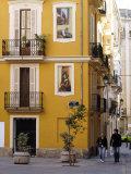 Trompe L'Oeil Paintings on Facades  St Nicolas Square  Valencia  Spain  Europe