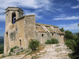 13th Century Church in the Village of Oppede Le Vieux  in the Luberon  Provence  France  Europe