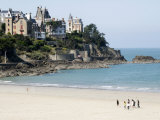 Plage De L'Ecluse and Typical Villas  Dinard  Brittany  France  Europe