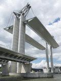 Movable Bridge Flaubert 2008 on River Seine During Armada 2008  Rouen  Normandy  France  Europe
