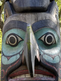 Tlingit Totem  Pioneer Square  Seattle  Washington State  United States of America  North America