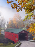 Covered Bridge at West Arlington  Vermont  New England  United States of America  North America