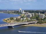 Aerial of the Narrows Bridge in the City of Perth  Western Australia  Australia  Pacific