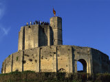Exterior of Gisors Castle with Visitors on Battlements  Haute Normandie  France  Europe