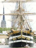 Three Masted Boat  Amerigo Vespucci from Italy During Armada 2008  Rouen  Normandy  France