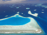 Aerial View of North Male Atoll  Maldives  Indian Ocean