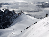 Mountaineers and Climbers  Mont Blanc Range  French Alps  France  Europe
