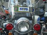 Police Harley Davidson Motorbike  New York City  New York  United States of America  North America