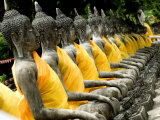 Buddha Statues  Ayuthaya  Thailand  Southeast Asia