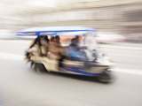 Motorised Rickshaw Ferrying Tourists around Krakow  Poland  Europe