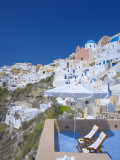 Terrace in Oia  Santorini  Cyclades  Greek Islands  Greece  Europe